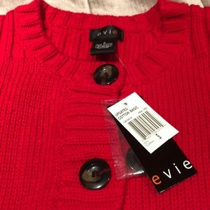 ANTHROPOLOGIE Evie Sweater Real Red NWTS